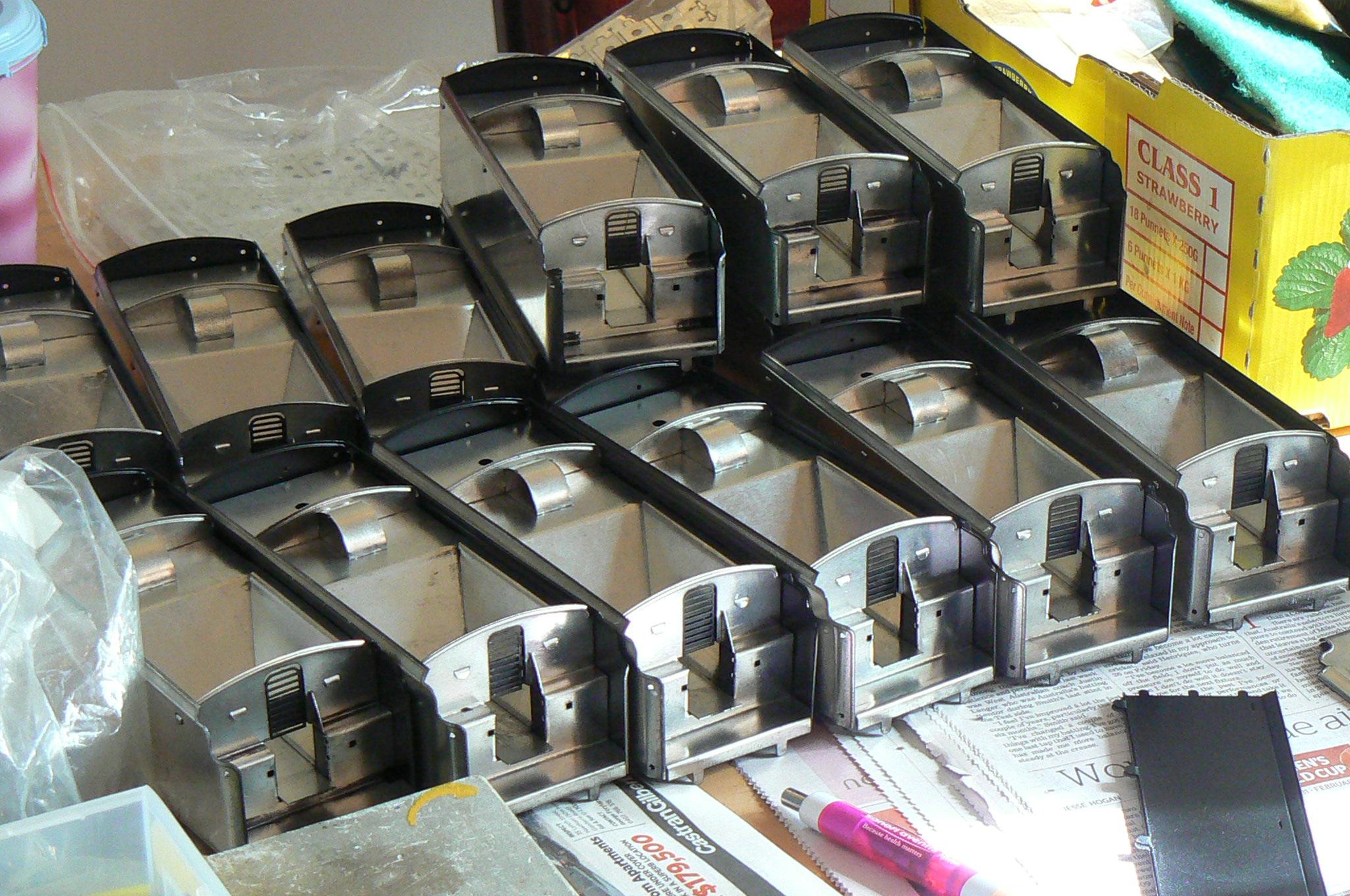 Fitzroy Loco Works O gauge tinplate tenders in production