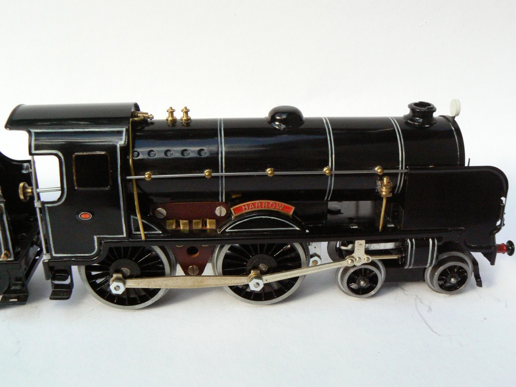 "Fitzroy Loco Works O gauge reproduction of Hornby Schools class Eton ""Harrow"" tinplate train in black livery"