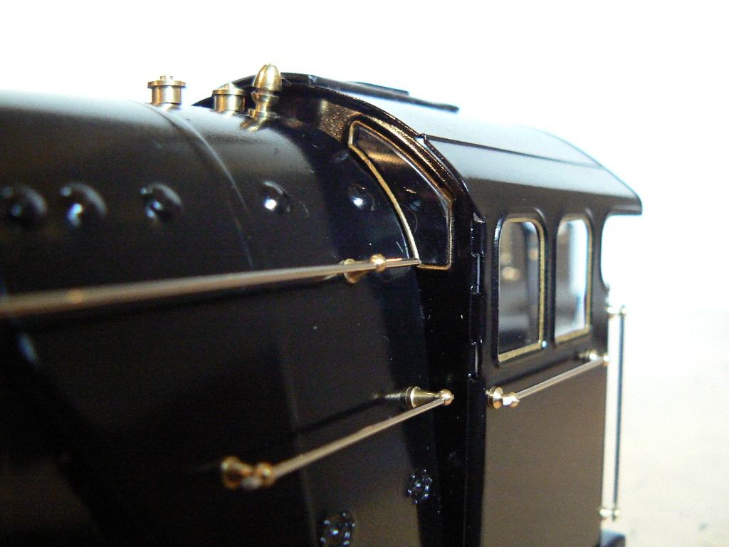Front cab detail- tinplate locomotive